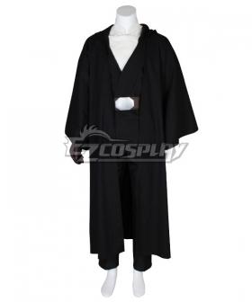 Star Wars The Last Jedi Luke Skywalker Black Cosplay Costume