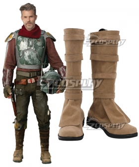 Star Wars The Mandalorian S2 Cobb Vanth Brown Shoes Cosplay Boots