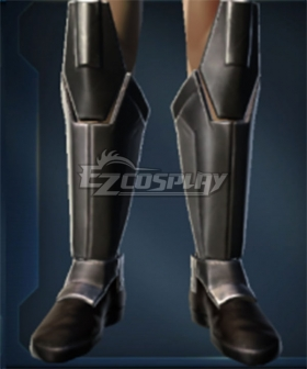 Star Wars: The Old Republic Freedon Nadd Black Shoes Cosplay Boots