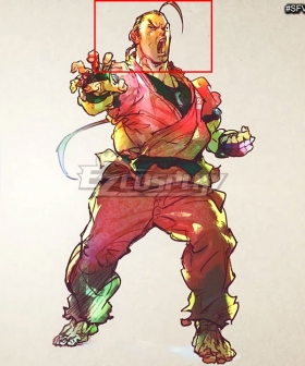 Street Fighter V Dan Brown Cosplay Wig