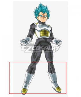 Super Dragon Ball Heroes Vegeta SSGSS White Shoes Cosplay Boots