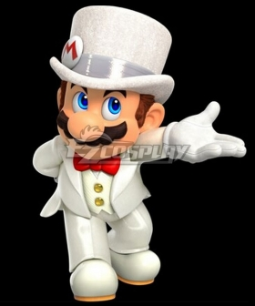 Super Mario Bros Mario White Suit Cosplay Costume