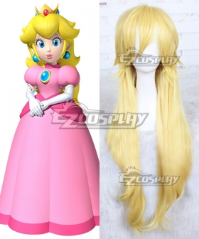Super Mario Bros Princess Peach Golden Cosplay Wig