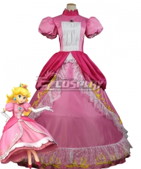 Super Mario Princess Peach Cosplay Costume