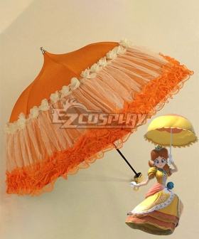 Super Smash Bros. Super Mario Princess Daisy Orange Umbrella Cosplay Accessory Prop