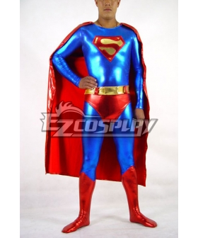 DC Superman Classic Shiny  Red Cosplay Costume