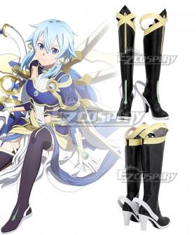 Sword Art Online Alicization War Of Underworld SAO Asada Shino Black Shoes Cosplay Boots