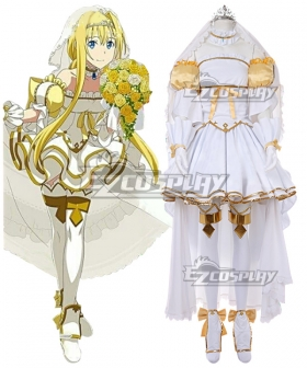 Sword Art Online Alicization War Of Underworld SAO  Alice Cosplay Costume