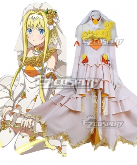 Sword Art Online Alicization War Of Underworld SAO  Alice Wedding Cosplay Costume