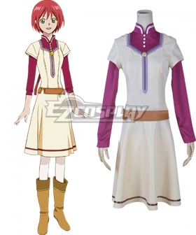 Snow White with the Red Hair kagami no Shirayukihime Shirayuki Chemist pharmacist Clothes Cosplay Costume