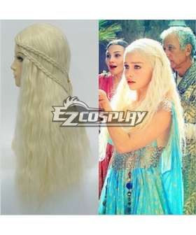 Game of Thrones Mother of Dragons Daenerys Targaryen Glod Cosplay Wig
