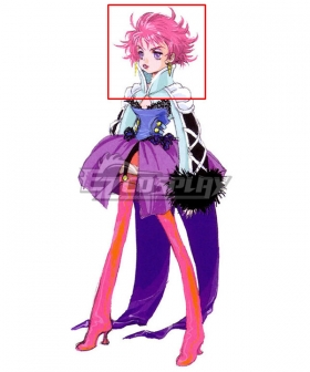 Tales of Destiny 2 Harold Berselius Pink Cosplay Wig