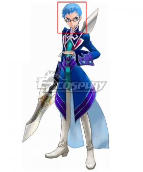 Tales of Graces Hubert Oswell Blue Cosplay Wig