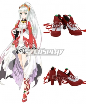Tales of Zestiria The X Lailah Red Cosplay Shoes
