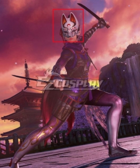 Tekken 7 Kunimitsu Black Red Cosplay Wig