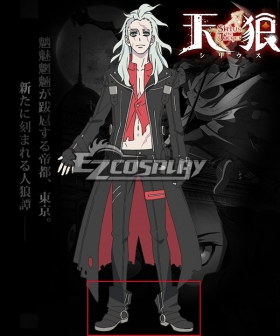 Tenrou: Sirius the Jaeger Mikhail Black Cosplay Shoes