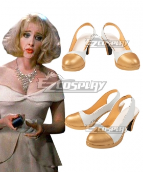 The Addams Family Values Debbie Halloween White Golden Cosplay Shoes