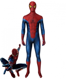 The Amazing Spider Man Spiderman Peter Parker Zentai Jumpsuit Cosplay Costume