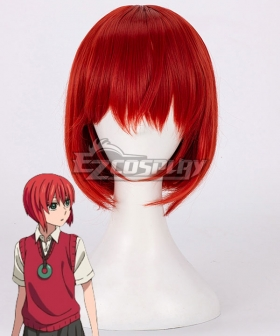 The Ancient Magus' Bride Mahoutsukai no Yome Chise Hatori Red Cosplay Wig New Edition
