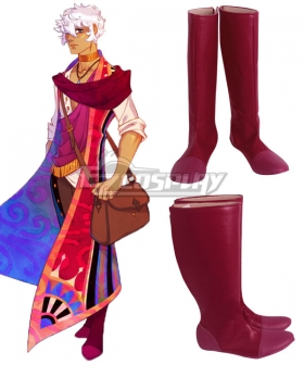 The Arcana Asra Red Shoes Cosplay Boots