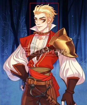 The Arcana Mercenary Lucio Outfit Golden Cosplay Wig
