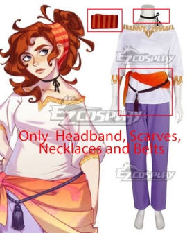 The Arcana Portia Cosplay Costume - Only  Headband, Scarves, Necklaces and Belts