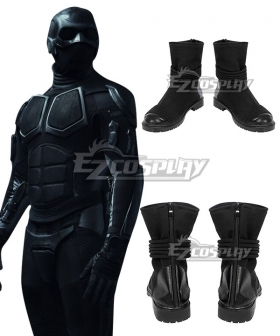 The boys black noir Black Cosplay Shoes