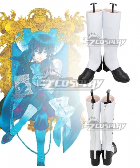 The Case Study of Vanitas Vanitas Black White Shoes Cosplay Boots