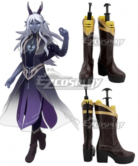 The Dragon Prince Aaravos Brown Shoes Cosplay Boots