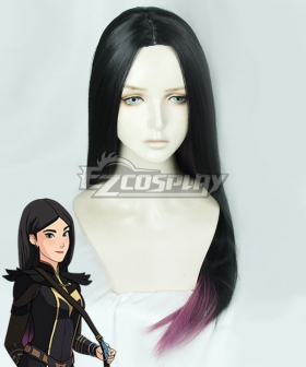 The Dragon Prince Claudia Black Purple Cosplay Wig