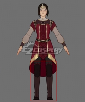 The Dragon Prince Queen Sarai Brown Shoes Cosplay Boots