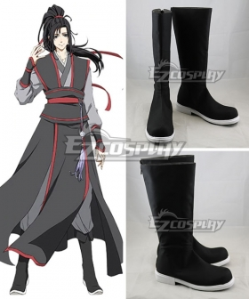 The Grandmaster of Demonic Cultivation Mo Dao Zu Shi Wei Wuxian Black Shoes Cosplay Boots