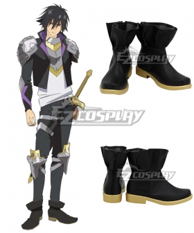 Cautious Hero:  The Hero is Overpowered but Overly Cautious Seiya Ryuguin Black Cosplay Shoes