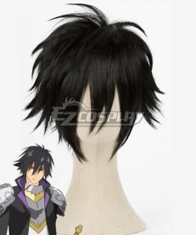 Cautious Hero: The Hero is Overpowered but Overly Cautious Seiya Ryuguin Black Cosplay Wig