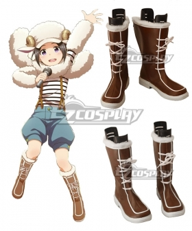 THE iDOLM@STER: SideM Nao Okamura Brown Shoes Cosplay Boots