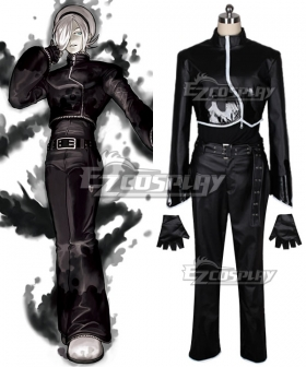 The King of Fighters 2003 SNK Ash Crimson Black Cosplay Costume