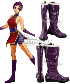 The King of Fighters Asamiya Athena Purple Shoes Cosplay Boots
