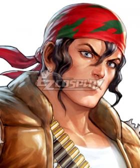 The King of Fighters KOF Ralf Jones Black Cosplay Wig