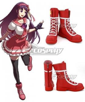 The King of Fighters XIV Asamiya Athena Red Shoes Cosplay Boots