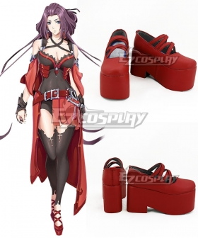 The King's Avatar Quan Zhi Gao Shou Happy Tang Rou Soft Mist Red Cosplay Shoes