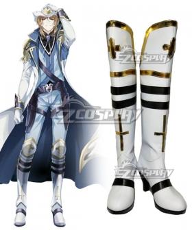 The King's Avatar Quan Zhi Gao Shou Zhou Zekai Cloud Piercer White Shoes Cosplay Boots