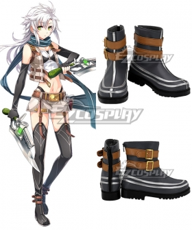 The Legend of Heroes: Trails of Cold Steel IV -THE END OF SAGA- Ⅳ Fie Claussell Grey Cosplay Shoes