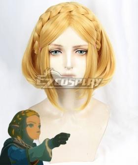 The Legend Of Zelda: Breath Of The Wild 2 Princess Zelda Golden Cosplay Wig