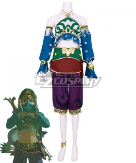 The Legend of Zelda: Breath of the Wild Female Zelda Link Gerudo Outfit Cosplay Costume