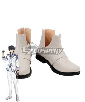 The Misfit of Demon King Academy Maou Gakuin Arnos Voltegourde Silver Cosplay Shoes