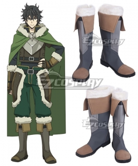 The Rising of the Shield Hero Naofumi Iwatani Brown Shoes Cosplay Boots