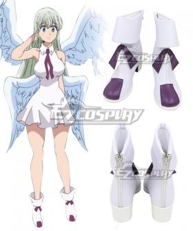 The Seven Deadly Sins: Kamigami no Gekirin Elizabeth Liones White Cosplay Shoes