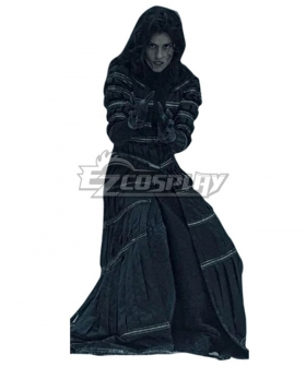 The Witcher TV 2019 Yennefer of Vengerberg Stripe Black Set Cosplay Costume