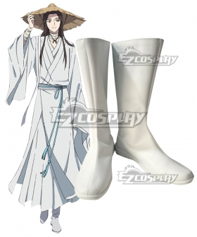 Tian Guan Ci Fu Heaven Official's Blessing Xie Lian White Shoes Cosplay Boots