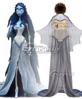 Tim Burton's Corpse Bride Emily Halloween Cosplay Costume - Not Including Wig
